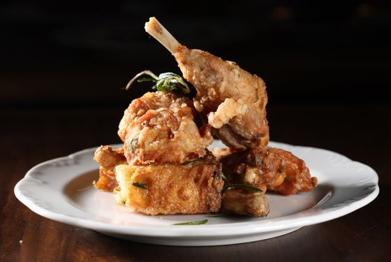 Via Carota's excellent fried rabbit is great for sharing.