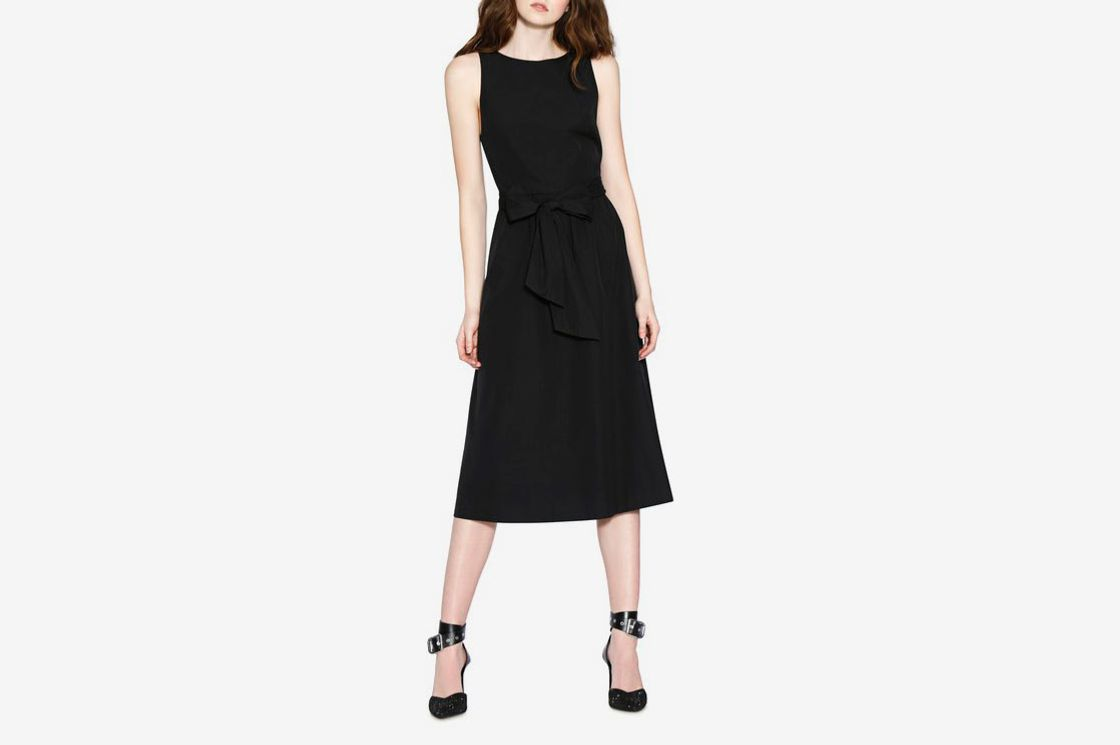 Alice + Olivia Brynlee Sleeveless Belted Midi Dress