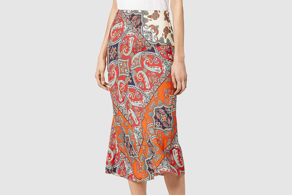 find. Printed Summer Midi Skirt