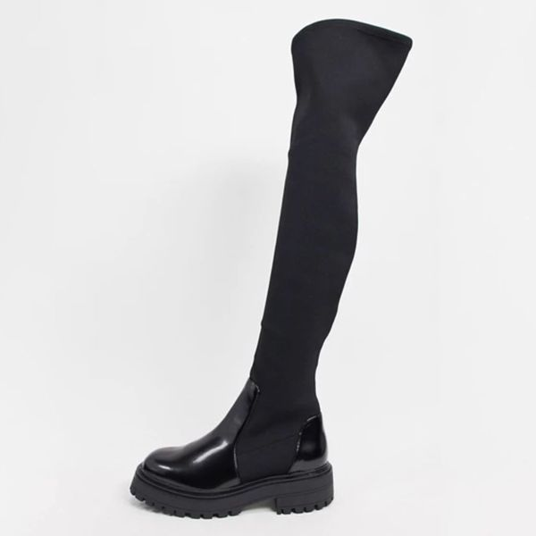 Asos Design Keeley Chunky Flat Over the Knee Boots