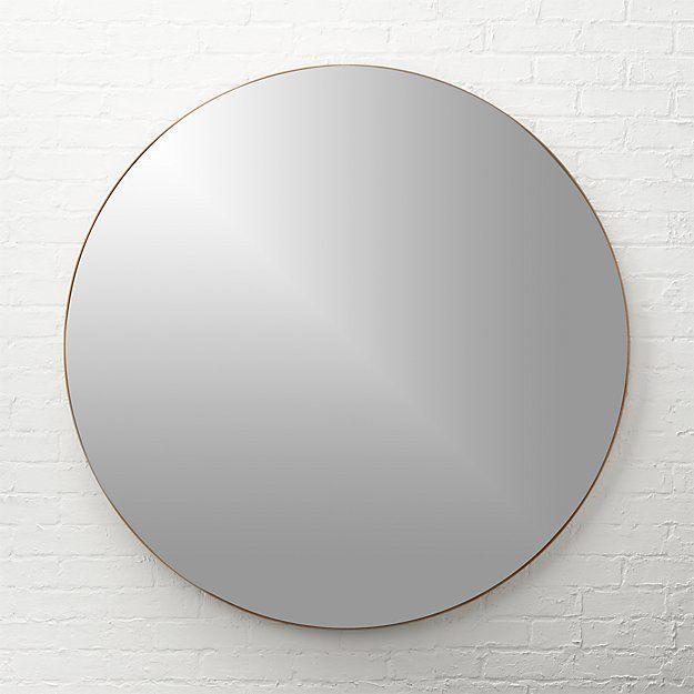 "CB2 Infinity Brass Round 48"" Wall Mirror"
