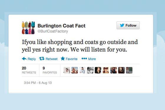The 20 Best Tweets From The Burlington Coat Factory Weird Twitter