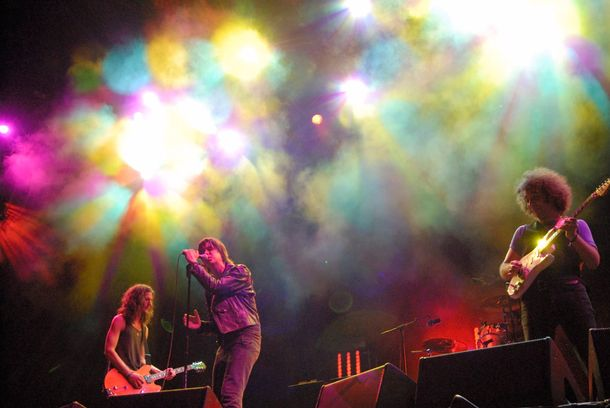July 2006, Benic‡ssim, Spain --- The Strokes performing at the XII Festival Internacional de Benicassim in Benicassim, Spain. --- Image by © Dosfotos/Lebrecht Music & Arts/Corbis