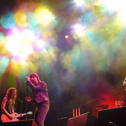 July 2006, Benic‡ssim, Spain --- The Strokes performing at the XII Festival Internacional de Benicassim in Benicassim, Spain. --- Image by ? Dosfotos/Lebrecht Music & Arts/Corbis