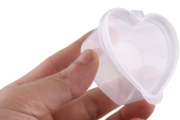 Fyess Heart Shaped Slime Storage Containers