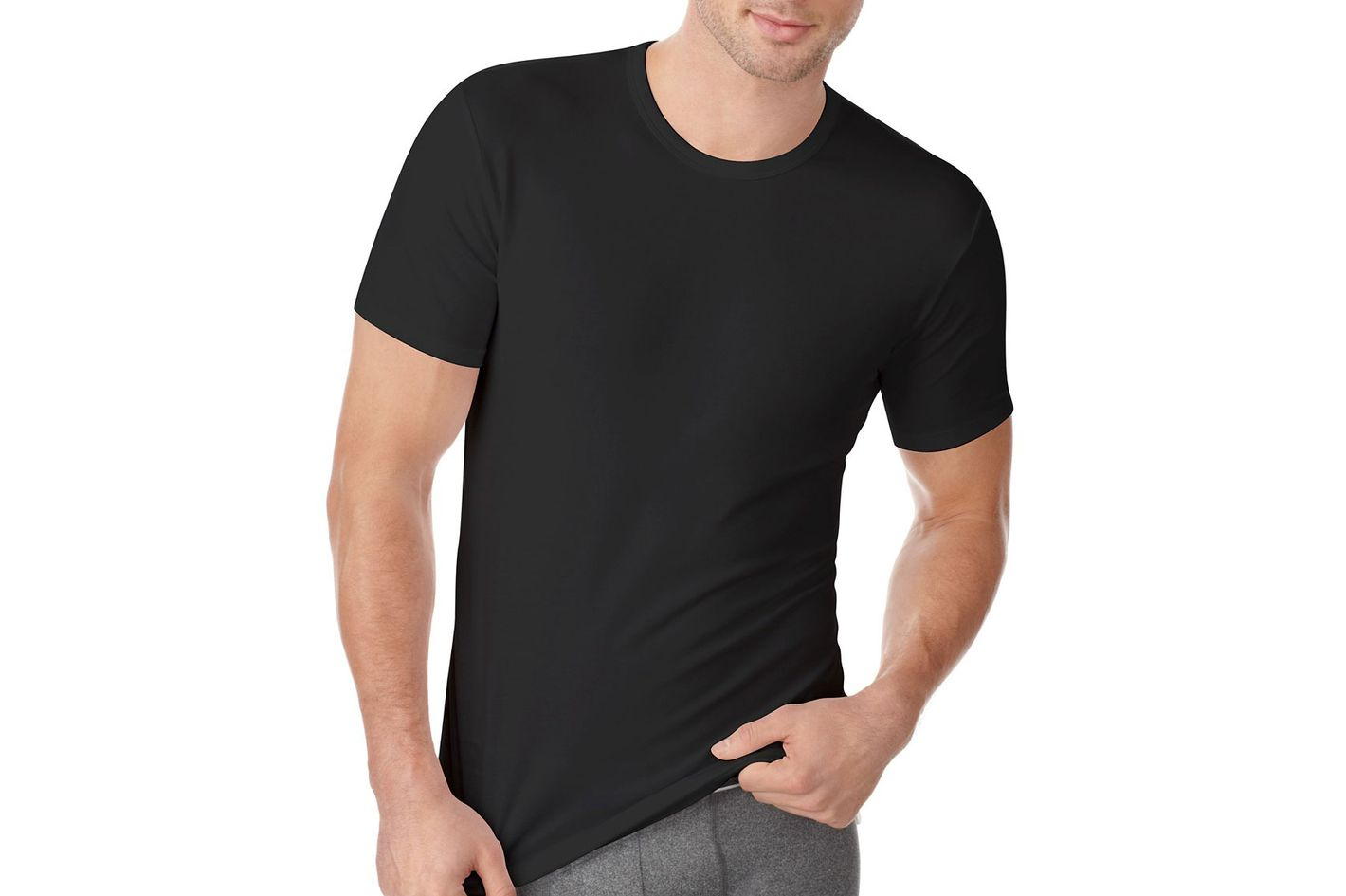 23382059ffa Best stretchy black T-shirt. Calvin Klein Men s Cotton Stretch Crew-neck  Undershirt 2-Pack