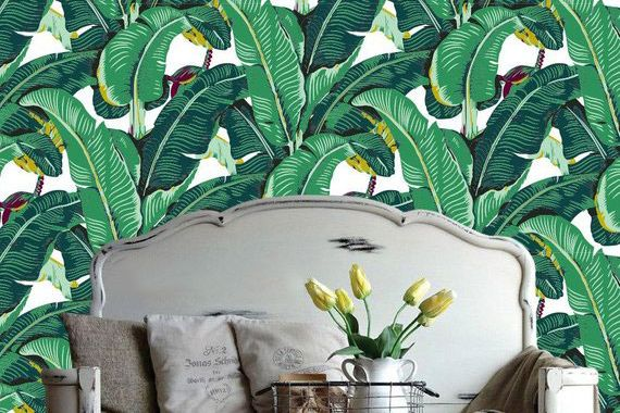 Accent Wall Customs Banana Leaf Removable Wallpaper
