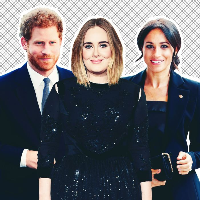 Prince Harry, Adele, and Meghan Markle.
