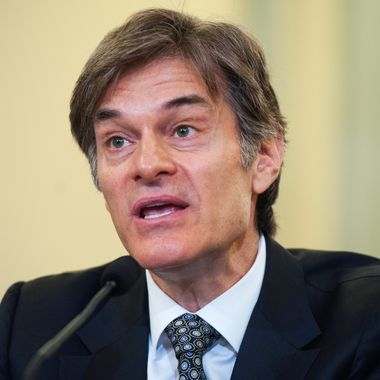 "Mehmet Oz, host of the Dr. Oz Show, testifies at a Consumer Protection, Product Safety, and Insurance Subcommittee hearing in Russell Building titled ""Protecting Consumers from False and Deceptive Advertising of Weight-Loss Products,"" June 17, 2014."
