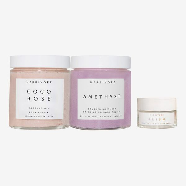 Herbivore Exfoliate + Glow Head to Toe Self Care Trio