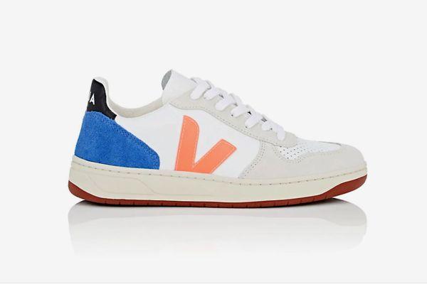 Veja V-10 Leather & Suede Sneakers
