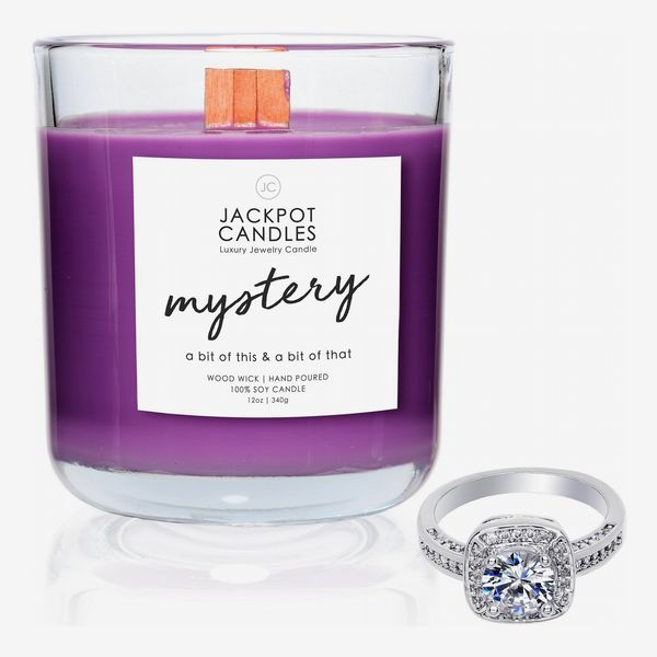 Jackpot Candles Mystery Wooden Wick Jewelry Ring Candle