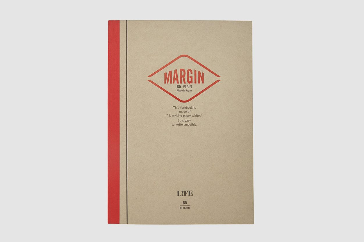 Life Margin B5 Blank Notebook