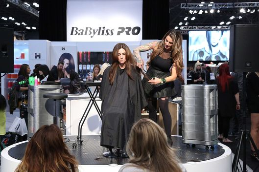 General view of atmosphere at the International Beauty Show at Jacob Javits Center on April 14, 2013 in New York City.