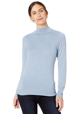 Amazon Essentials Women's Lightweight Long-Sleeve Mockneck Sweater