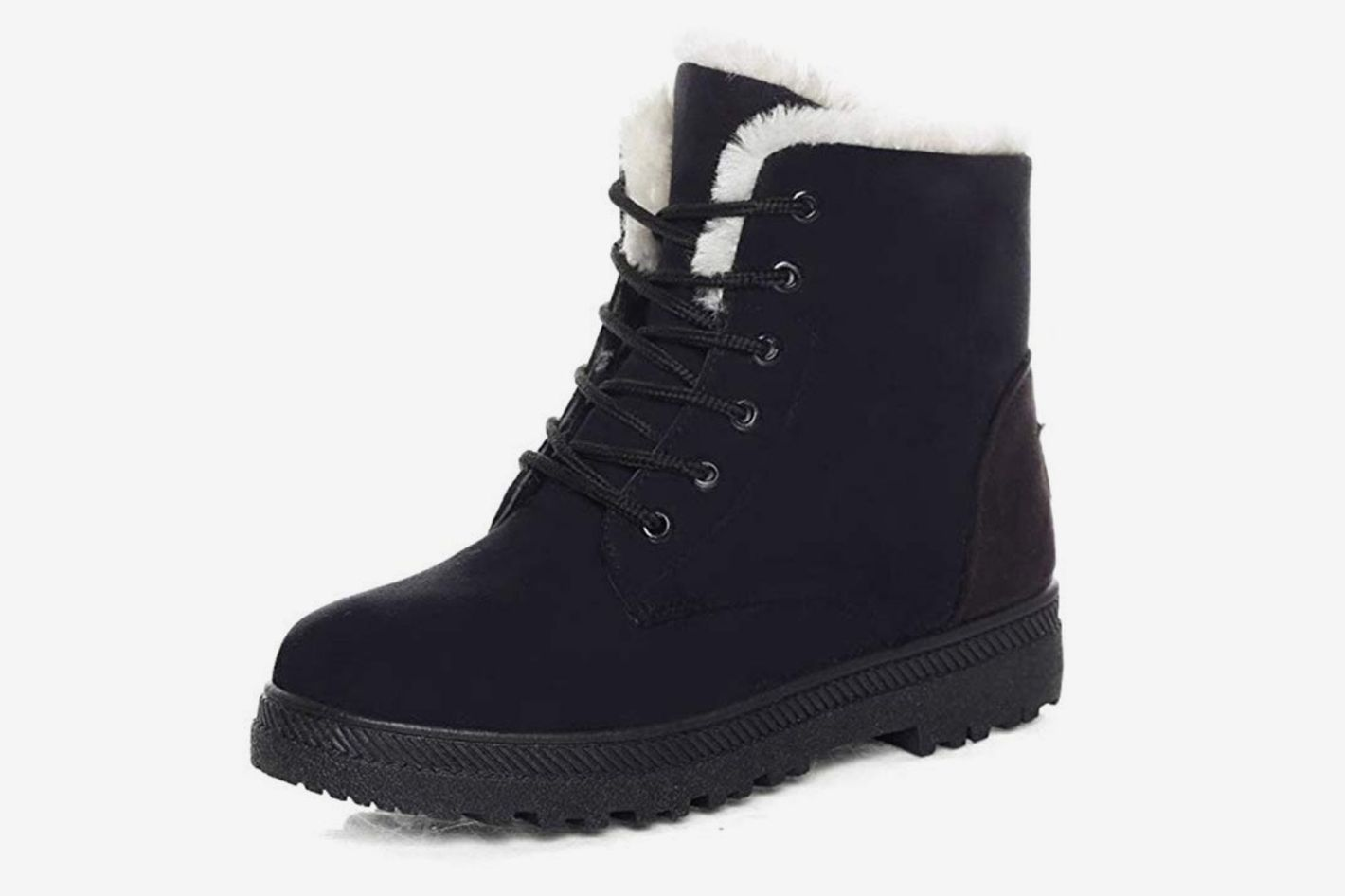 Dadawen Women S Suede Waterproof Lace Up Winter High Top Snow Boots At
