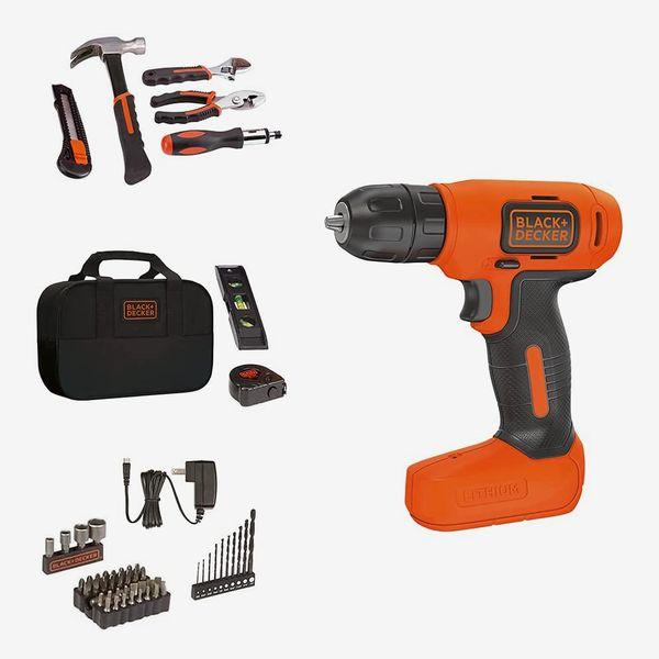 BLACK+DECKER 57-Piece 8V Drill & Home Tool Kit
