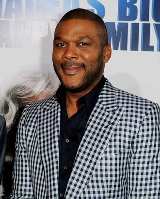 Writer/producer/director/actor Tyler Perry arrives at a screening of Lionsgate Films'