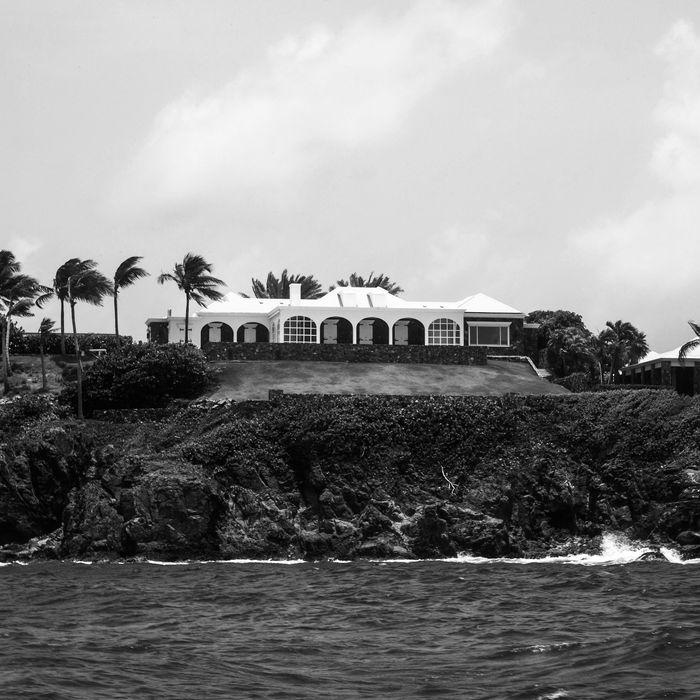 Little St. James Island, which is owned by billionaire and accused sex-trafficker Jeffrey Epstein.