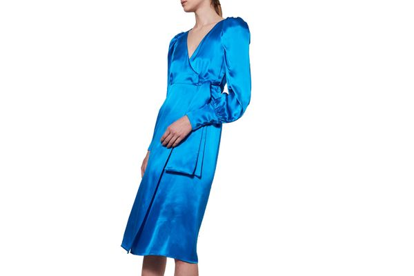 Puff Sleeve Wrap Dress by Boutique