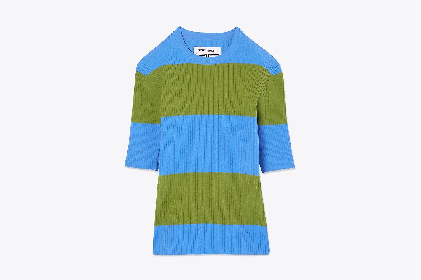 Tech Knit Short-Sleeve Sweater