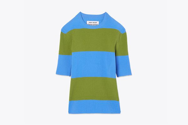 Tech Knit Short-Sleeve Sweater