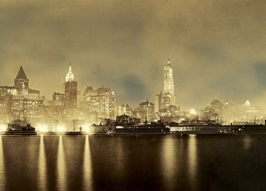 A scrapbook of late night new york nymag 1917 shimmer on the harbor an image of the early skyline that appeared in the edison monthly a publication of the new york edison company dedicated to stopboris Choice Image