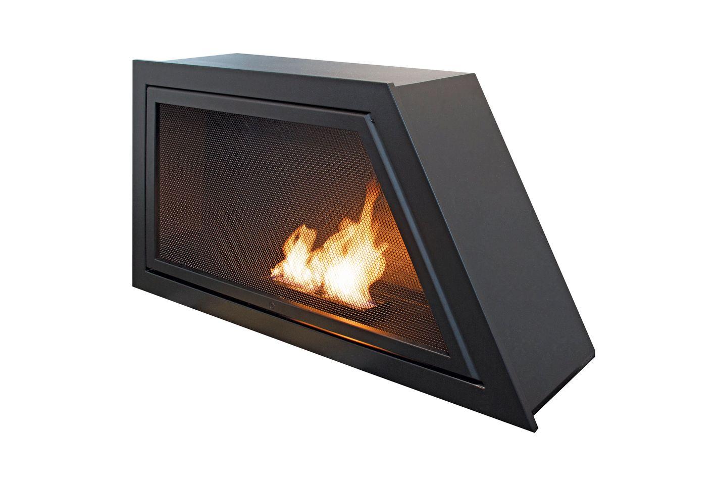 Geometric HearthCabinet ventless fireplace