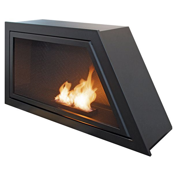 Geometric HearthCabinet ventless fireplace
