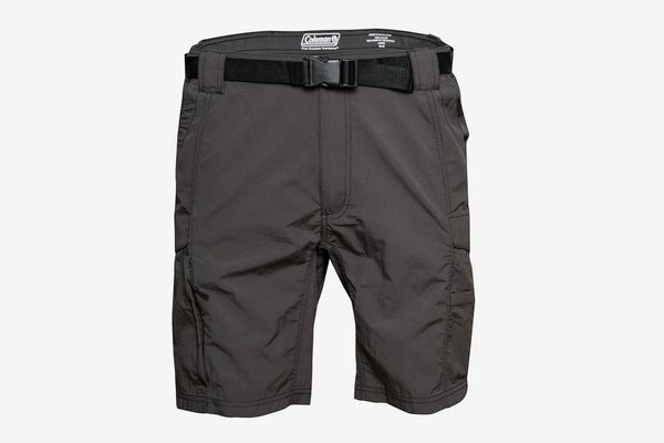 Mens Outdoor Casual Expandable Waist Lightweight Water Resistant Quick Dry Cargo Fishing Hiking Shorts