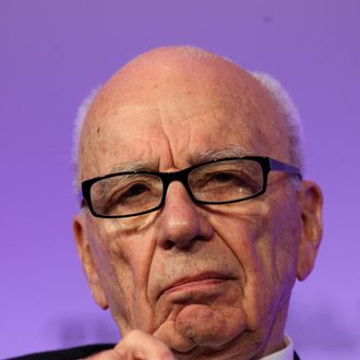 LONDON - JUNE 21: Chairman of News Corporation Rupert Murdoch listens during The Times CEO summit at the Savoy Hotel on June 21, 2011 in London, England. The summit included News Corporation chairman Rupert Murdoch, chief executives of Goldman Sachs, Santander and Vodafone and Labour Leader Ed Miliband. (Photo by Ben Gurr - WPA Pool/ Getty Images)
