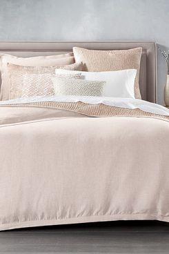 Hotel Collection Linen Full/Queen Duvet Cover (Dusty Rose)