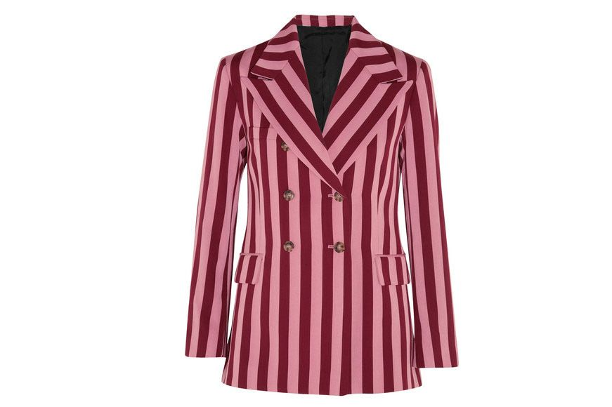 ALEXACHUNG Striped Blazer