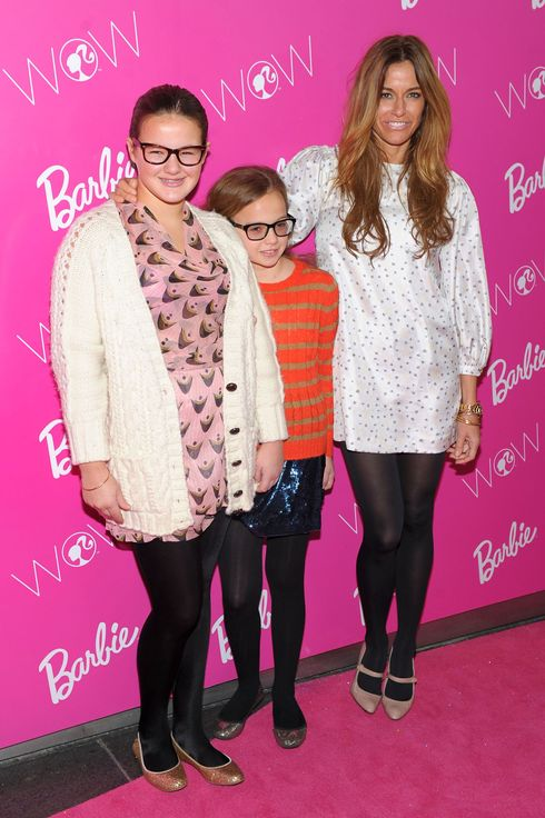 Kelly Bensimon (R) with daughters Sea Bensimon (L) and Teddy Bensimon (C) attend Barbie The Dream Closet Playdate Saturday February 11th at David Rubenstein Atrium on February 11, 2012 in New York City.