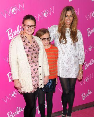 Kelly Bensimon and children.