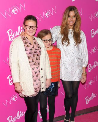 Kelly Bensimon and children.