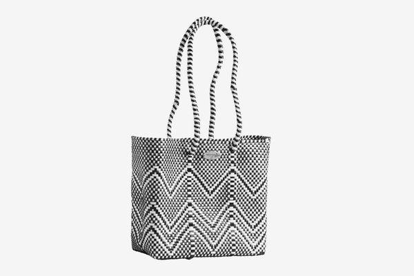 Abrazo Style Oaxaca Zig-Zag Woven Tote Bag
