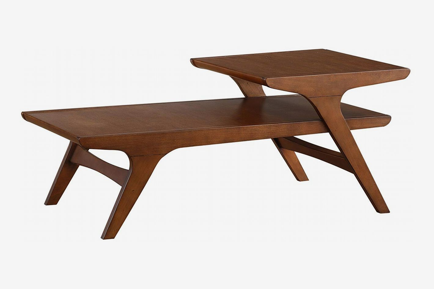 Homelegance Saluki Mid-Century Two-Tier Cocktail/Coffee Table