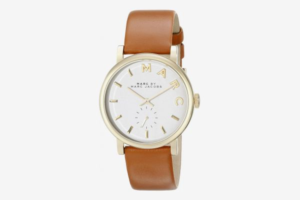 Marc by Marc Jacobs Brown Leather Strap Watch