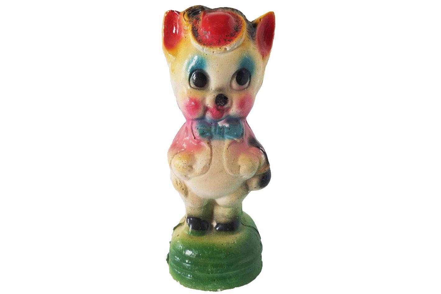 Vintage Chalkware Carnival Pig