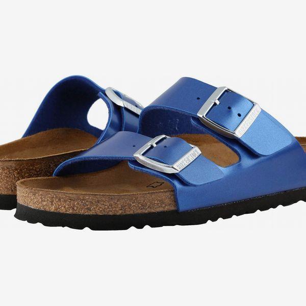 metallic blue birkenstock arizona - strategist birkenstock sale zappos