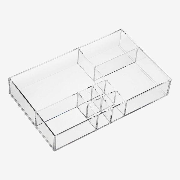 AmazonBasics Acrylic 8-Compartment Storage Organizer Tray