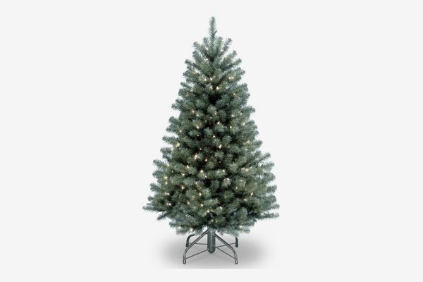 National Tree Company 4.5' North Valley Blue Spruce Artificial Christmas Tree with Clear Lights with Stand