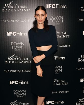 Actress Rooney Mara attends the Downtown Calvin Klein with The Cinema Society screening of IFC Films'