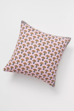 Anthropologie Home Kantha-Stitched Verbena Pillow
