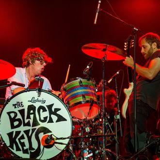 Patrick Carney (L) and Dan Auerbach of The Black Keys perform during the Quebec Festival D'ete on July 6, 2013 in Quebec City, Canada.
