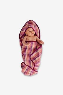 Kip&Co Boysenberry Swirl Waffle Baby Towel