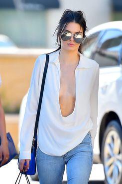 Kendall Jenner's Shirt Went Deep