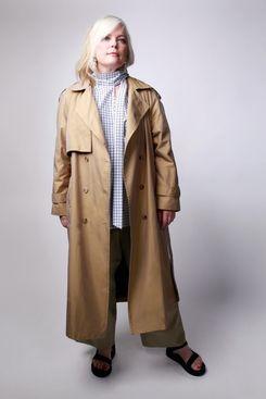 Baacal 90s Classic Taffeta Trench Coat