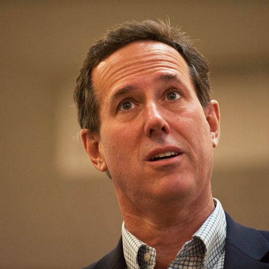 Republican presidential candidate, former U.S. Sen. Rick Santorum, speaks to supporters at Harvest Graphics